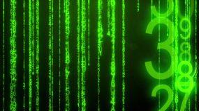 黑客帝国效果字幕雨 视频素材视频素材
