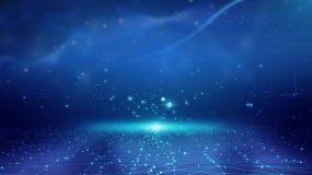 蓝色离子推进视频视频素材