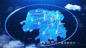 【湖南地图】科技湖南地图AE模板AE模板