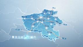 简洁省市地图-河南AE模板