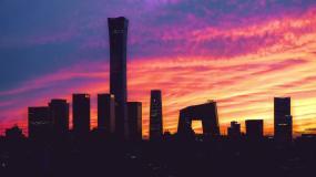 中国尊黄昏美景中信大厦北京国贸中国尊延时视频素材