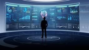 科技宣传片大屏幕数据演示视频素材