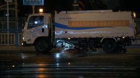 【正版授权】城市路面清洗视频素材