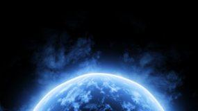 冰雪能量球寒冰冰霜冷星球视频素材