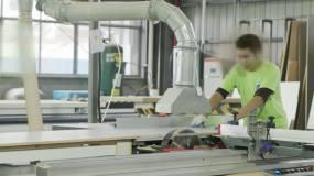工人板材加工-zjh视频素材包