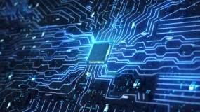 【原创】人工智能计算机cpu芯片电路板视频素材
