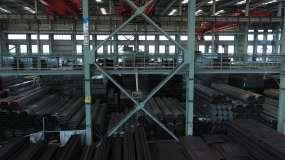 钢厂钢铁材料仓库车间视频素材