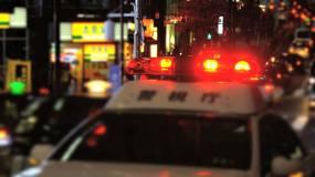 停在街道上的警灯视频素材